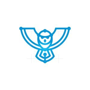 Technology Owl Logo Cyber Owl Logo