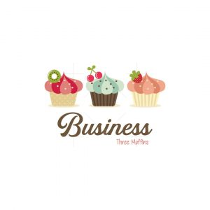 Three Muffins Symbol Logo