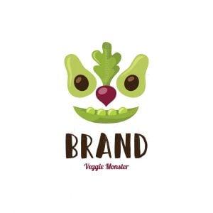 Veggie Monster Character Logo