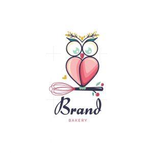 Wise Owl Heart Bakery Logo