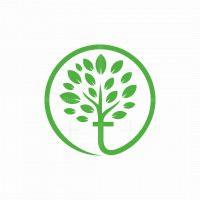 Letter T Tree Logo