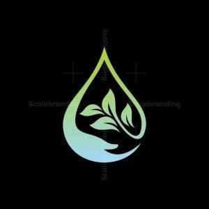 Hand Drop Leaf Logo