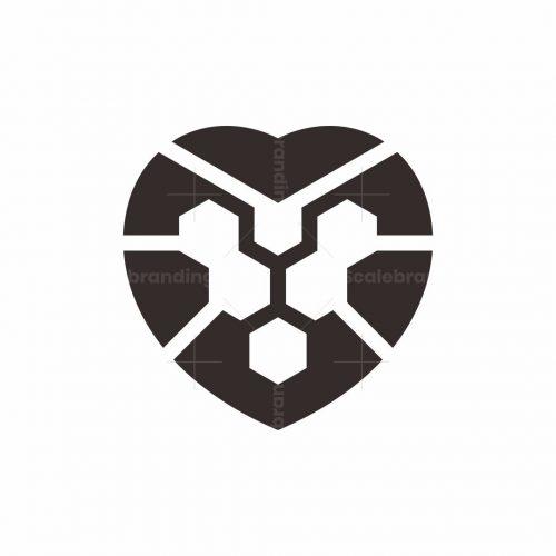Heart Lion Logo