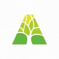 Letter A Tree Logo