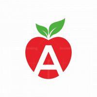 Letter A Apple Logo