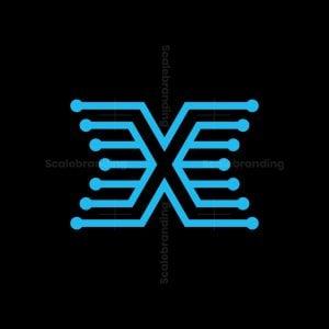 Letter X Tech Logo