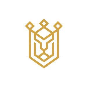 King Lion Shield Logo