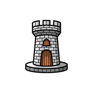Letter A Castle Logo