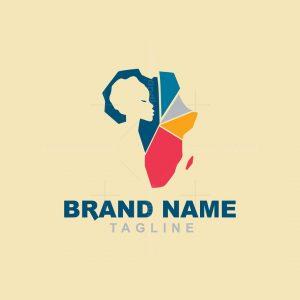 African Woman Logo