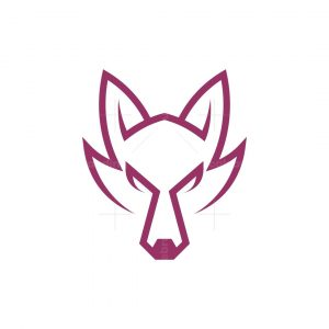 Angry Wolf Face Logo