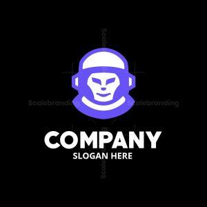 Astronaut Alien Logomark