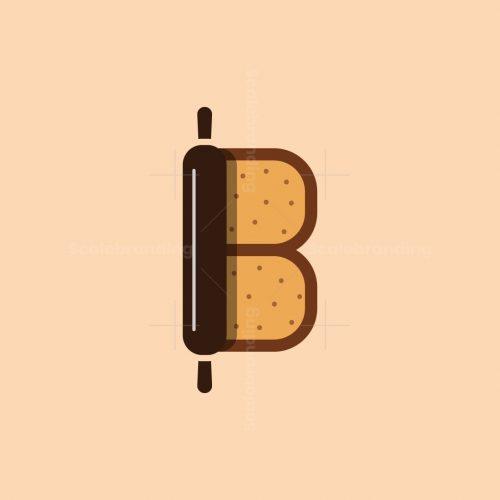 Letter B Bread Logo
