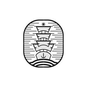 Classic Sailing Ship Logo