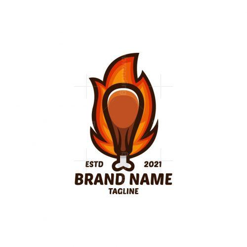 Fire Chicken Drum Logo