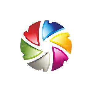 Circle Letter V Logo