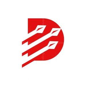 D Letter Spear Logo