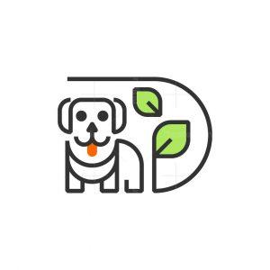 Letter D Dog Leaf Logo