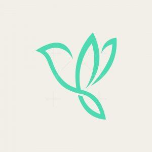 Stylish Flying Bird Logo