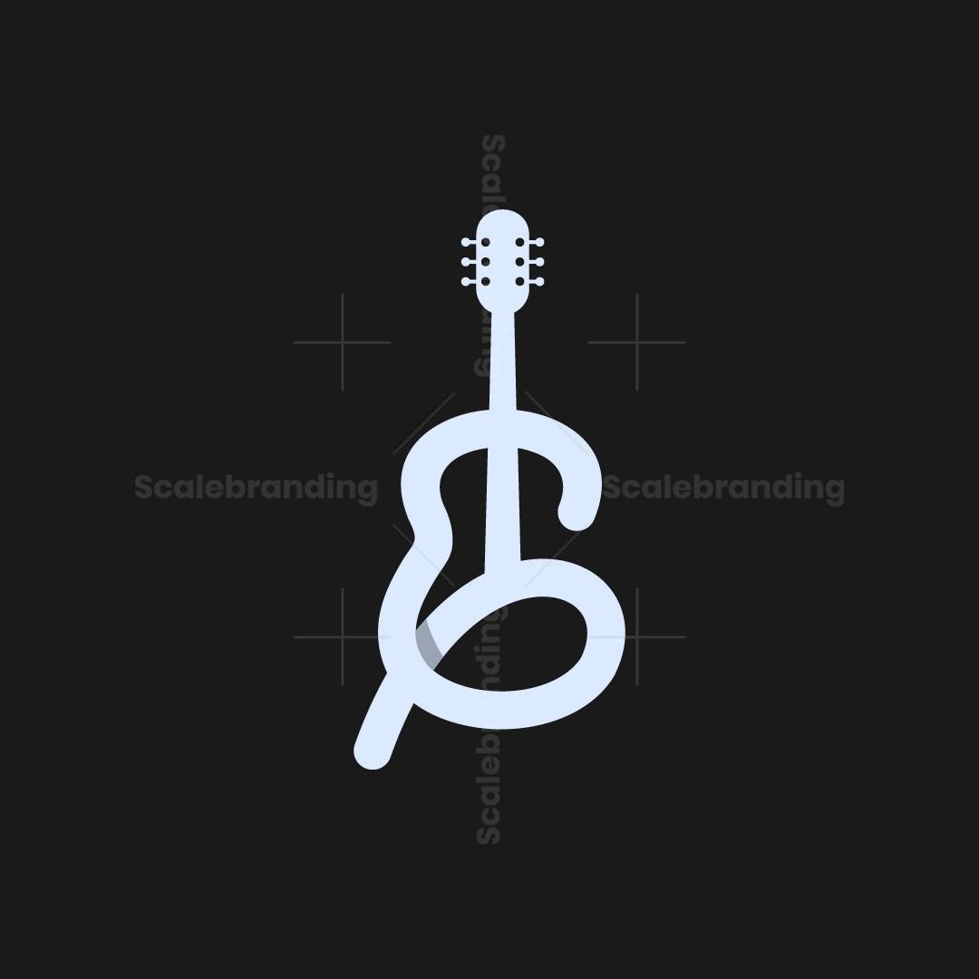 Letter G Guitar Musical Logo