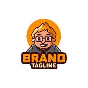 Glasses Boy Logo