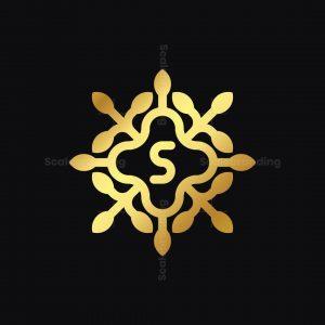 Golden Flower S Logo
