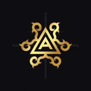 Golden Ornament A Logo