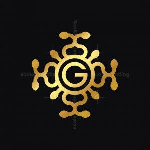 Golden Ornament G Logo