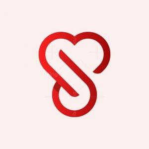 Letter J Love Logo