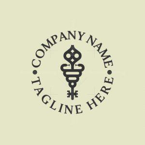Key And Snake Logo