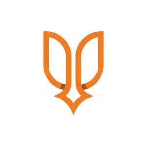 Letter U Beauty Star Logo