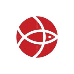 Dribble Fish Logo