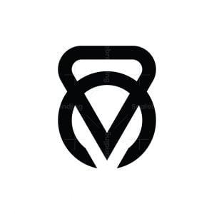 Letter M Kettlebell Logo