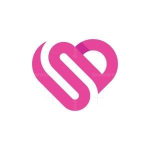 Letter S Or Sd Love Logo