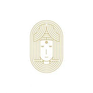 Luxury Beauty Face Line Logo