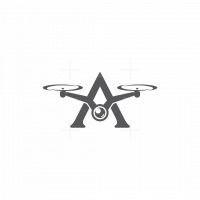 Letter A Drone Logo