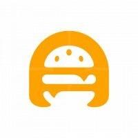 Letter A Burger Logo