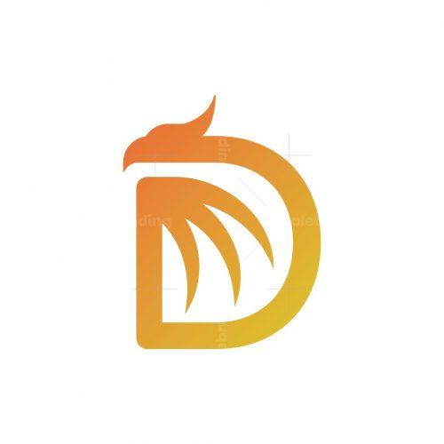 Letter D Dragon Logo