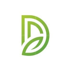 Letter D Leaf Logo