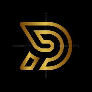 Letter D Or Dp Gold Logo