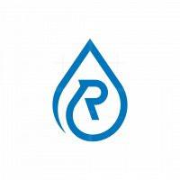 Letter R Water Drop Logo