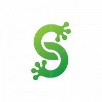 Letter S Frog Logo