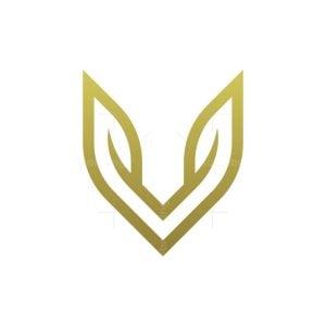 Letter V Nature Logo