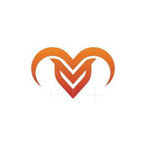 Letter V Ram Logo