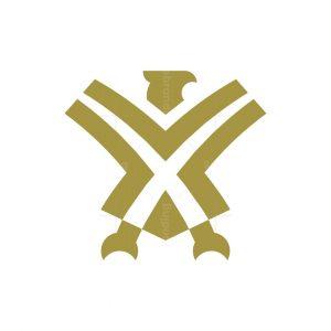 Letter X Eagle Logo