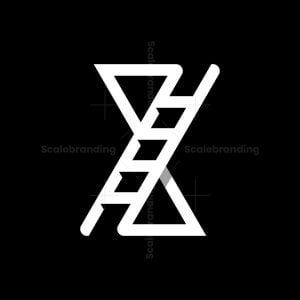 Letter X Ladder Logo