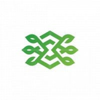 Letter X Nature Logo