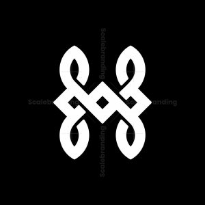 X Or H Celtic Knot Logo