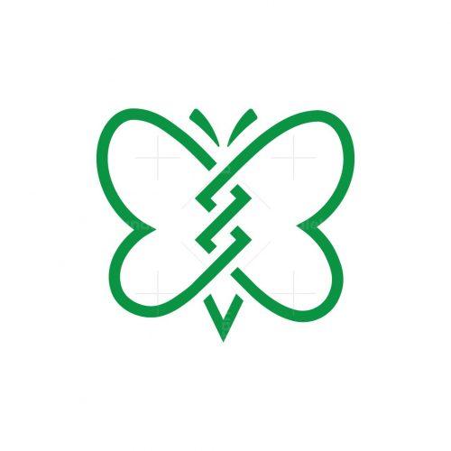Line Butterfly Logo