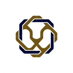 Square Lion Knot Logo