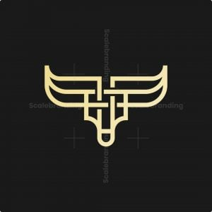 Luxury Knot Bull Head Logo